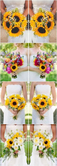 Rustic Wedding Ideas » 21 Perfect Sunflower Wedding Bouquet Ideas to Love » ❤️ See more: http://www.weddinginclude.com/2017/05/perfect-sunflower-wedding-bouquet-ideas-to-love/