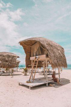 Le Pirate Private Island Flores - Connie and Luna Surf Shack, Beach Shack, Bamboo House Design, Hut House, Pirate Island, Jungle House, Bamboo Structure, Komodo Island, Beach Cabana