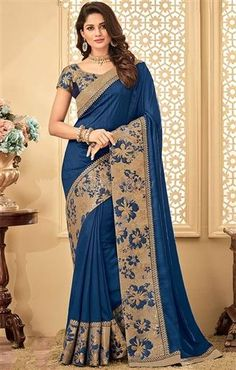 Ravishing Grey Color Tissue Fabric Thread Embroidered Party Wear Saree Rewrite the legacy of six yards with a twist in this uniquely ornamented saree. Replace some of your outdated essentials with this gorgeous grey color tissue saree. Indian Sarees, Silk Sarees, Organza Saree, Lehenga Saree, Chiffon Saree, Indian Bollywood, Saris, Indian Dresses, Indian Outfits