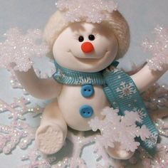 Gaida • Boneco de neve em biscuit