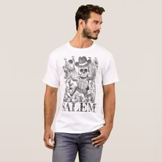 Salem Massachusetts Occult Skull Tee Men's T-Shirt - Halloween happyhalloween festival party holiday