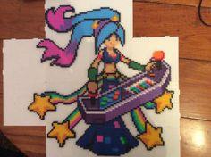 League of Legends Arcade Sona - Perler Bead by BoogaGoomba.deviantart.com on @DeviantArt