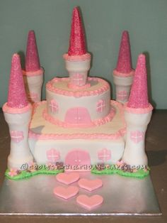 Easy Castle Cake Designs | ... castle cake was my first cake that went beyond the basic round cake