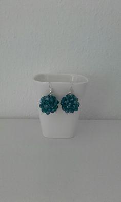 Blue/Green Bubble Earrings