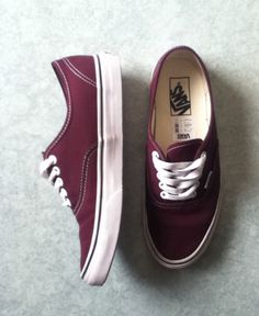 burgundy maroonish vans. i love this color