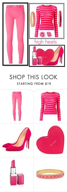 """""""👠👠👠"""" by priyaarun ❤ liked on Polyvore featuring Love Moschino, Ermanno Scervino, Christian Louboutin, Kate Spade, Clinique and Halcyon Days"""