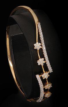 Unique Diamond floral bangle …
