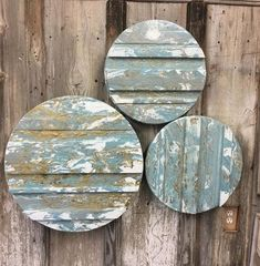 Painted textured disks by Steve Taff Montage Art, Coasters, Painting, Drink Coasters, Painting Art, Paint, Draw, Paintings