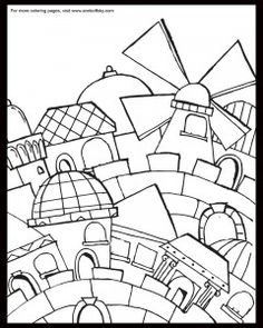 Why Learn Hebrew Jewish Crafts, Jewish Art, Day Camp Activities, Coloring Books, Coloring Pages, Coloring Sheets, Arte Judaica, International Craft, Mosaic Pictures