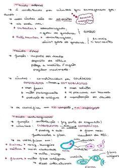 2/2 do resumo de tecido conjuntivo! #tecidoconjuntivo #biologia #natureza #enem Study Organization, Study Notes, Study Motivation, Core, Journal, Education, School, Muscle Tissue, Student Nurse