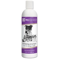 Revitalizing Shampoo. A portion of profits from sales of all Life's Abundance products goes to smaller animal shelters often in need of funding. Thank you for your support