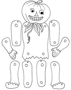 color and make a pumpkin Jack puppet for Halloween Theme Halloween, Halloween Arts And Crafts, Halloween Cards, Holidays Halloween, Halloween Diy, Happy Halloween, Fall Crafts, Moldes Halloween, Manualidades Halloween
