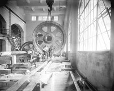 [Two men in partially constructed generator room for Buntzen Lake Power Plant number two - City of Vancouver Archives Water Powers, Two Men, Electric Power, Number Two, Vancouver, Management, Construction, History, City