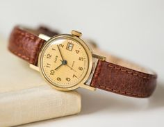 Classy women's wristwatch Zaria  gold plated lady watch  by 4Rooms