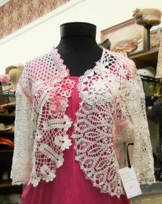 Vintage Doilies Sweater/Shrug, one-of-a-kind, repurposed, recycled