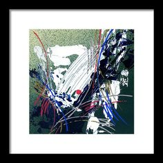 Abstract Framed Print featuring the painting Amazing Abstract- II by Rupam Shah