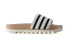 """We Are Drooling Over These New adidas adilette Wood Slides: Three Stripes reworks the classic with a new """"high fashion"""" look. Fashion Wear, Womens Fashion, Female Fashion, Adidas Slides, High Fashion Looks, Jeweled Shoes, Hipster, Slide Sandals, Spring"""