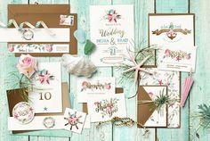 Raspberry Road Designs newest wedding invitation set.