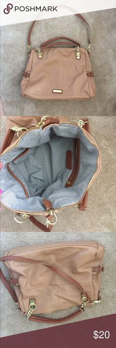 """Steve Madden Purse Tan never used Steve Madden bag, 15"""" long by 11.5"""" tall by 5"""" wide Steve Madden Bags Totes"""
