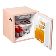 Frigidaire Cu Ft Retro Mini Fridge with Side Bottle Opener, Coral Image 5 of 7