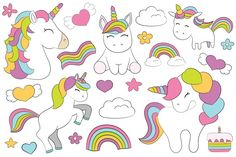 Welcome to the magic! 22 elements with 5 unicorns, 1 cake, 2 clouds, 3 rainbows, 5 hearts, 2 stars and 4 flowers. 65 seamless baby digitalpaper. scrapbook backgrounds, baby patterns for commercial use. Bonus! 18 elements - 2 princesses, 2 castles, 2 clouds, 4 cupcakes, 4 donats, 3 magic wands and 1 lollipop.