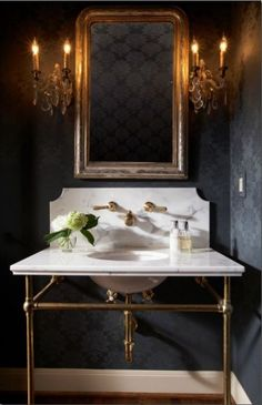 Gorgeous powder room....for project in mens room