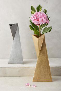 Twined Angles Vase - anthropologie.com