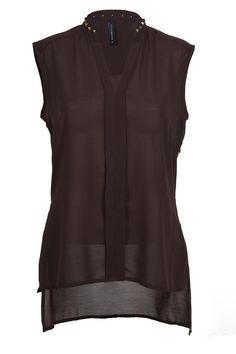 Blusa de gasa sin mangas. Moda Medieval, Built In Wardrobe, Chiffon Shirt, Tunic Blouse, Mix Match, Summer Outfits, Designers, Sew, Blouses