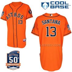 http://www.xjersey.com/astros-13-santana-orange-50th-anniversary-patch-cool-base-jerseys.html ASTROS 13 SANTANA ORANGE 50TH ANNIVERSARY PATCH COOL BASE JERSEYS Only $43.00 , Free Shipping!