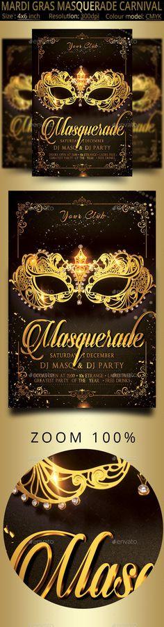 Masquerade Mardi Gras Carnival #Party #Flyer - Events Flyers