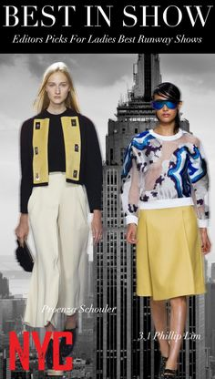 Trend Council Editors Picks For Ladies Best Runway Shows NYC