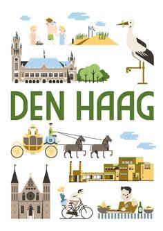 Als kunstposter koop op: https://www.catch-online.nl/kunstenaars/jochem-coenen #Den haag #poster #Holland