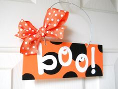MINI Boo Polka Dot Sign  cute polka dot by yourethatgirldesigns