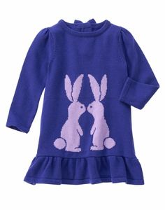 Gymboree Girls 6-12M 2T 3T Purple Bunny Sweater Dress NWT $40 #Gymboree #Dressy