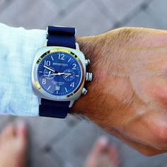 #mybriston #watch #briston #clubmaster classic steel blue sunray dial with navy blue #NATO #strap ©maximscandinavia