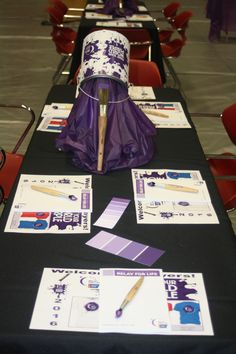 RELAY FOR LIFE - Paint Your World Purple - table decor - Debbie Buchanan