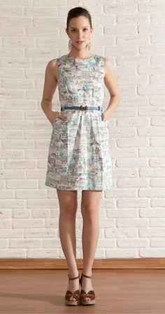 Vestido Antix, Casinhas Laço Nas Costas, Coleção Verão 2014