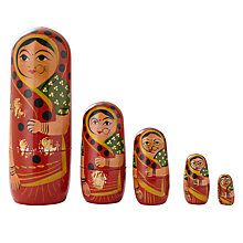 Buy John Lewis Indian Lady Russian Doll Online at johnlewis.com