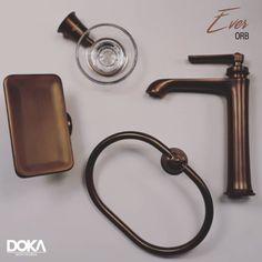 A Coleção Ever ORB (Oil Rubbed Bronze) da Doka, é imponente e carregada de emoção, capaz de tornar qualquer espaço exclusivo e sofisticado. Por sua intensidade e atemporalidade, tanto em design quanto na coloração, recebeu o nome EVER.