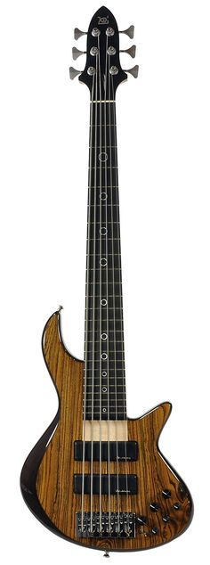 XOTIC XB-2 6-String Bass Bocote/Ash Natural Top w/Trans Black Back | Chicago Music Exchange