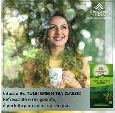 Infusão Tulsi Green Tea Classic O Tulsi Green Tea contém ingredientes naturais, para o seu bem estar.  Vários estudos científicos atestam que o chá verde contém polifenóis, flavonoides e proantocianidinas, os quais reforçam a acção antioxidante significativa de Tulsi (Ocimum sanctum). A nossa fantástica combinação proporciona uma sensação refrescante e tem um sabor maravilhoso. Beba e desfrute! #zurcetraud