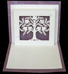 Tree pop up card - free cut file from Carol at Extreme Cards & Papercrafting