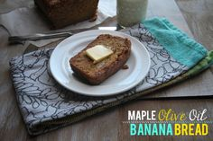 Maple Olive Oil Banana Bread // shutterbean