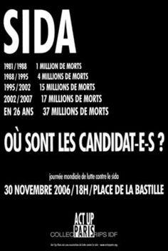 Journée mondiale de lutte contre le sida, 30 novembre 2006. Act Up-Paris, 2006.