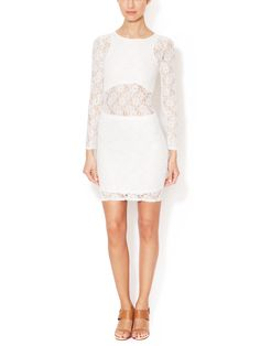 Lace Long Sleeve Sheath by Isabel Lu at Gilt