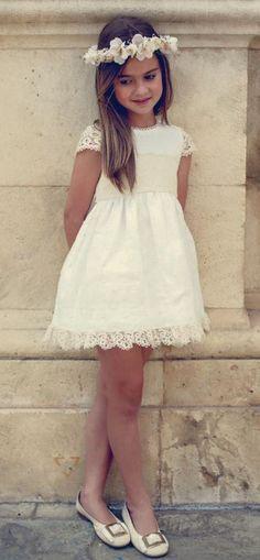 Vestido crudo de Paqui Barroso