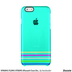 SPRING FLING STRIPE iPhone6 Case Deflector Uncommon Clearly™ Deflector iPhone 6 Case