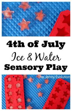 4th of July Ice and Water Sensory Play   The Jenny Evolution