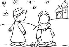 Coloriage: En route pour le taraweeh Eid Crafts, Ramadan Crafts, Ramadan Decorations, Colouring Pages, Coloring Books, Colouring Sheets, Ramadan Activities, New Project Ideas, Islam For Kids