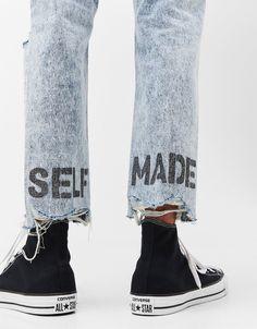 Jeans slim fit lettering - Camisas - Bershka España